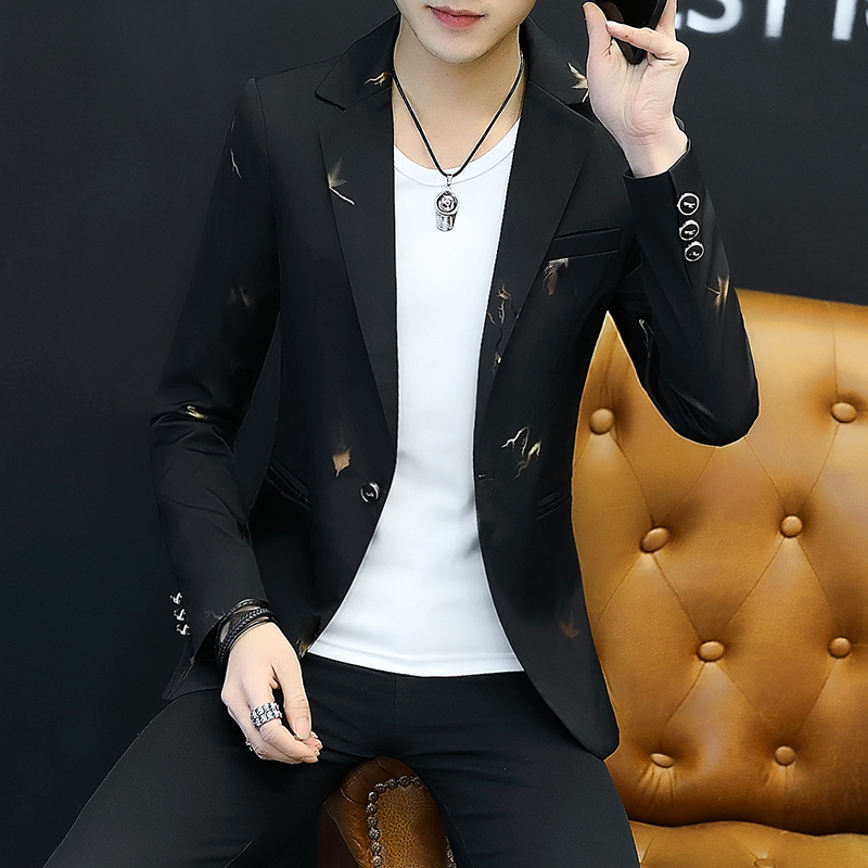 2019 New Men Black Suit Jacket Long Sleeve Coat Slim Design Men Blazer Coats Asia Size S M L XL XXL XXXL  Men Dress Suit Blazers