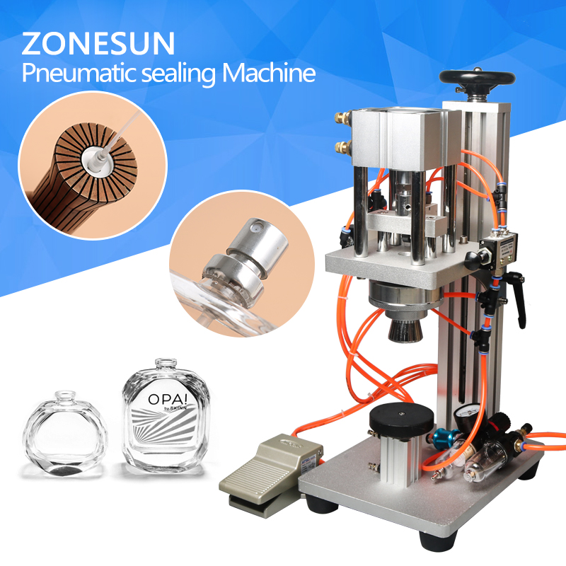 semi-automatic capper, small bottle capping machine for perfume pneumatic perfume sealing machine automatic perfume capping machine perfume bottle valve door sealing machine 1pc