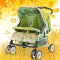 Pegasus gêmeos carrinho de bebê luz multifuncional dobrável carro duplo bebê