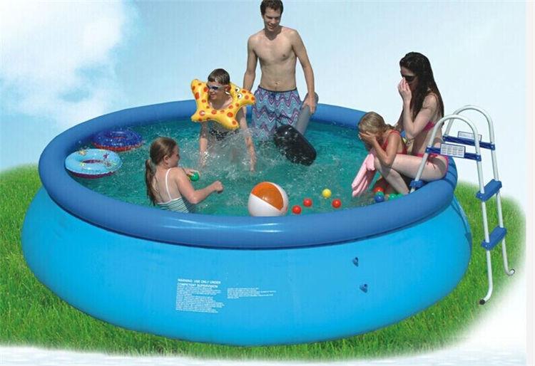Kingtoy maison ou jardin grande piscine d'eau grande piscine gonflable pour adultes baignoire avec pompe réparation taille 305x76 cm jouet - 2