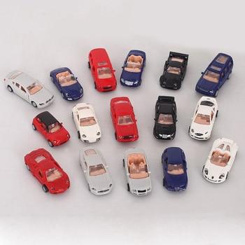 1 Pcs 4D Plastic Assemble Car Scale 1:87 Modern Collection Puzzle Assembling Toys For Children 1