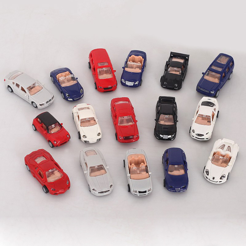 1 Pcs 4D Plastic Assembled Car Scale 1:87 Modern Cars Collection Puzzle Assembling Toys For Children