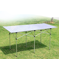 Lengthen Outdoor Folding Table Light Portable Picnic Dining Table Simple Stall/BBQ/camping Multifunction Desk Stable Metal Frame