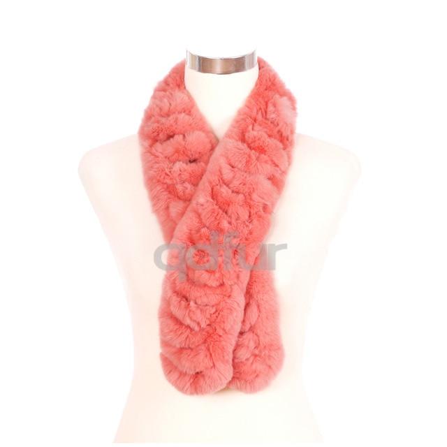 2014 Autumn Lady Genuine Rex Rabbit Fur Scarves Wraps Winter Women Fur Accessory Rings Females Neckerchief QD30452