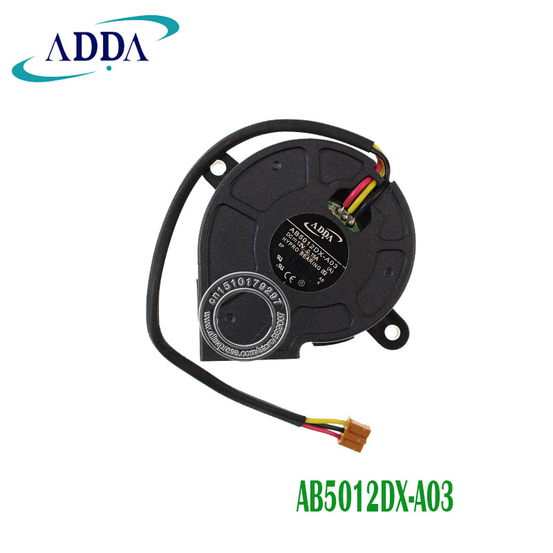 ADDA AB5012DX-A03 5025 5CM Turbo Blower Fan 12V 0.15A Hydraulic Bearing