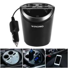 Multifunction Auto Car Cigarette Lighter Dual USB Charger Adapter Hands Free FM Transmitter for Phone Charger bluetooth car kit hands free phone call talking fm transmitter cigarette lighter plug a2dp mp3 playback