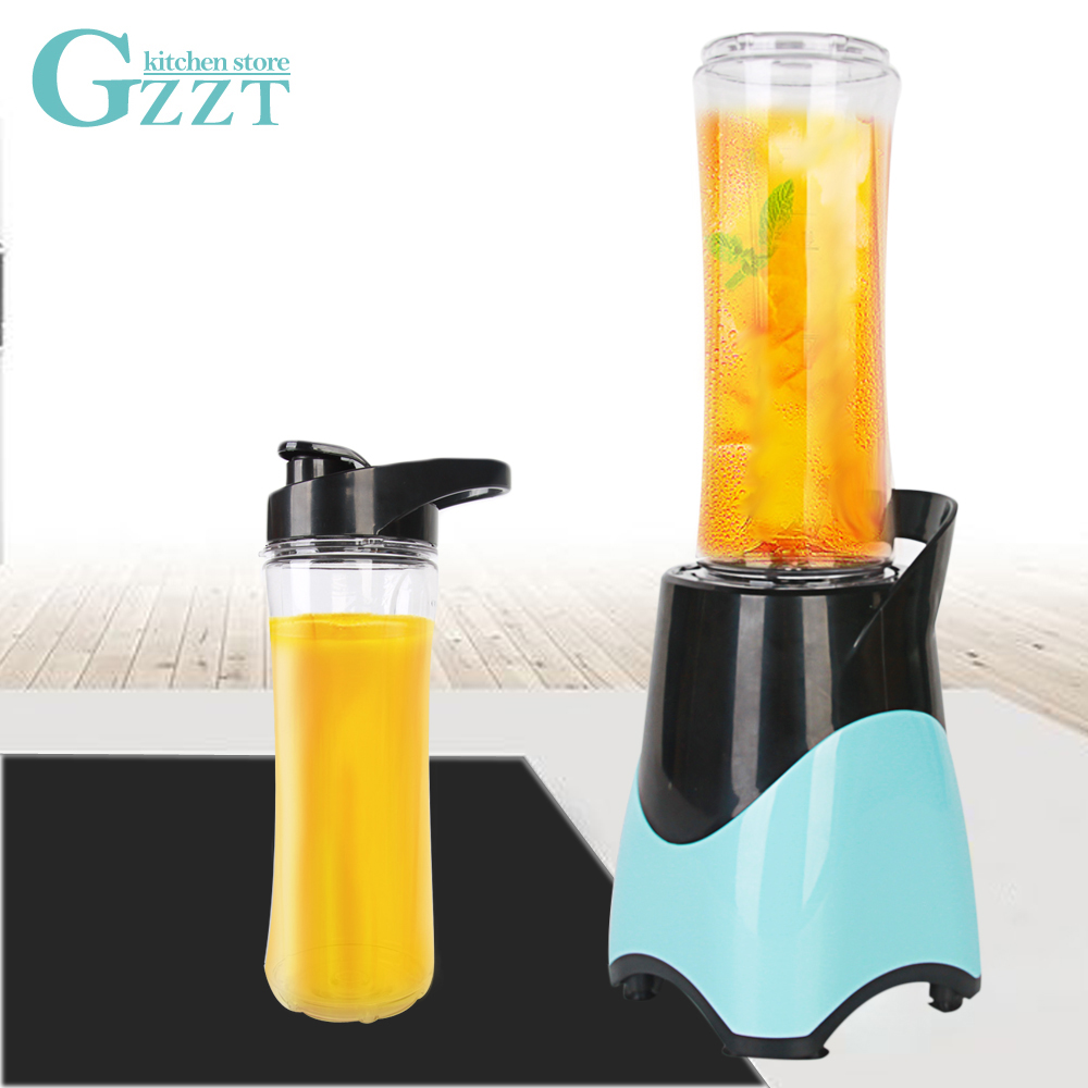 GZZT Vegetable Fruit Juicer Household Blender Mini Small Size Portable Mixer 600ml Capacity With Stainless Steel Blade