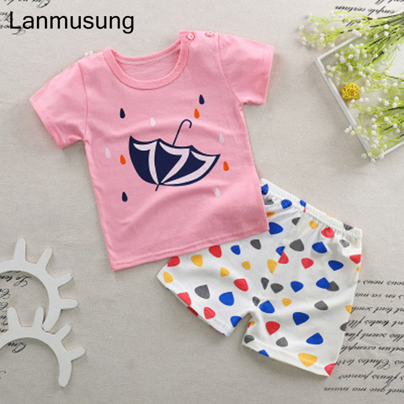clothing set baby girl clothes 2pcs Short Sleeves T-Shirt Toddler Suits line baby boy clothes baby girl clothing bebe clothings