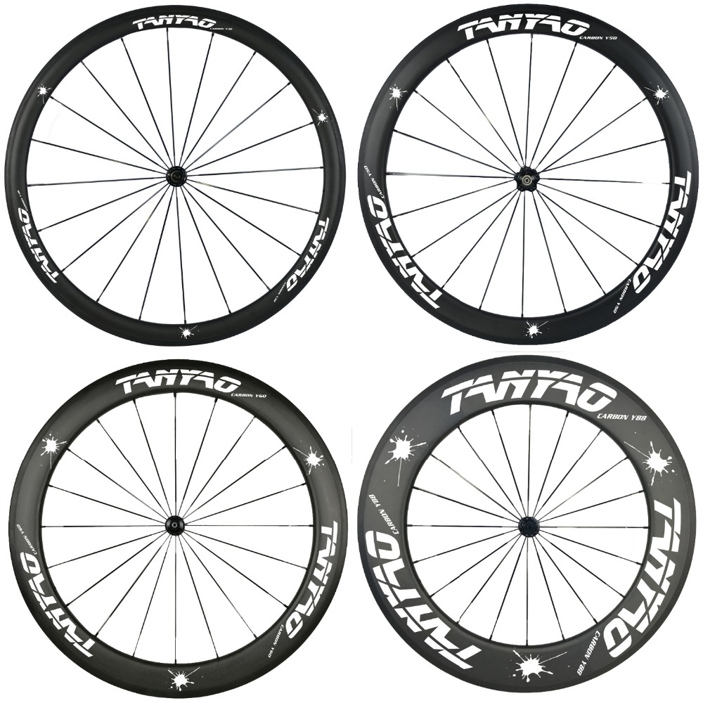 New desgin 38mm 50mm 60mm 88mm carbon wheels 700c road bike carbon bicycle wheels clincher tubeless carbon wheelset