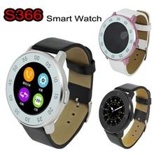 ZGPAX S366บลูทูธสมาร์ทนาฬิกาข้อมือSmartwatchนาฬิกาข้อมือG + G Capacitiveรอบหน้าจอป้องกันการสูญหายSyncสำหรับIOS Android 4.4 Mate