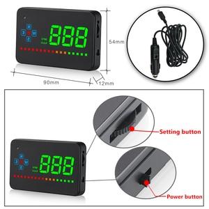 Image 5 - A2 miroir GPS HUD affichage tête haute voiture vitesse pare brise projecteur Auto compteur de vitesse KMH/KPM universel numérique compteur de vitesse
