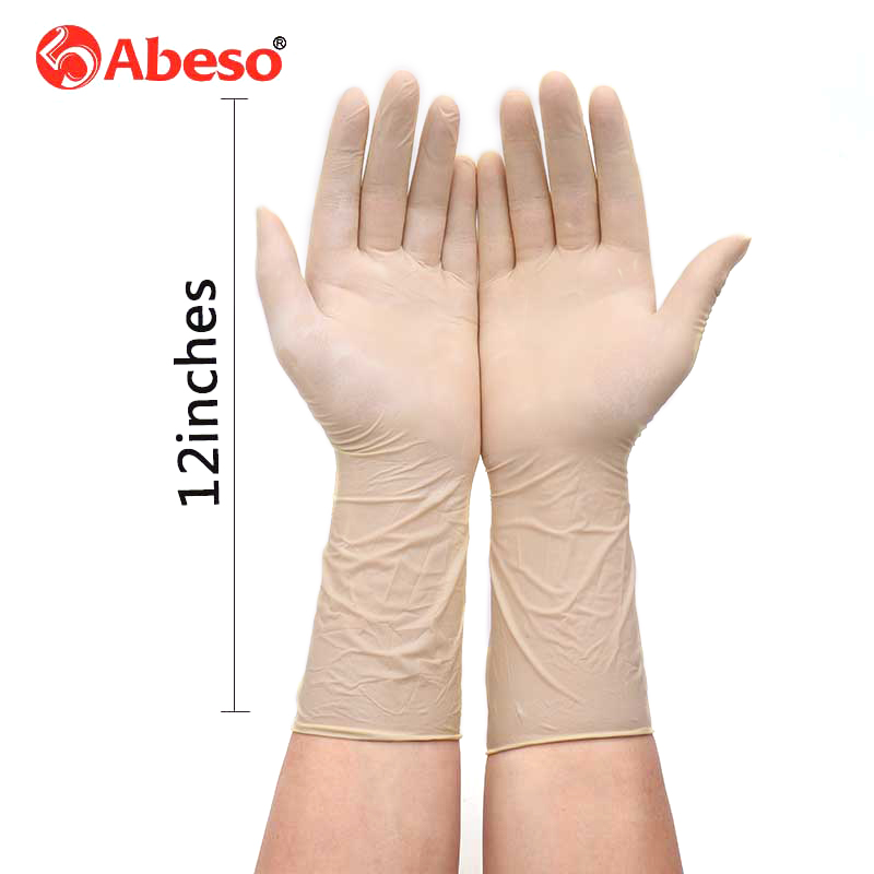 100 Pcs Wholesale Lengthen 12 inches Latex Disposable Rubber Glove Thick Duable Household Cleaning Waterproof Industrial Gloves-in Safety Gloves from Security & Protection
