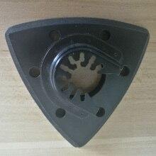 Lâmina de serra de oscilação da almofada de lixamento triangular nivelada de 93mm para fein, bosch, makita