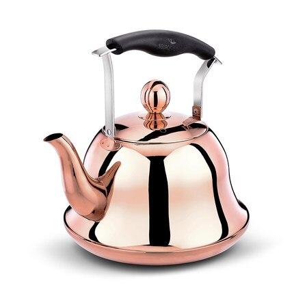 Еда Класс 304 нержавеющая сталь чайник газовая Плита газа Whistles бытовых газовых чайник большой емкости 3l, 4l, 5l индукции Плита горшок