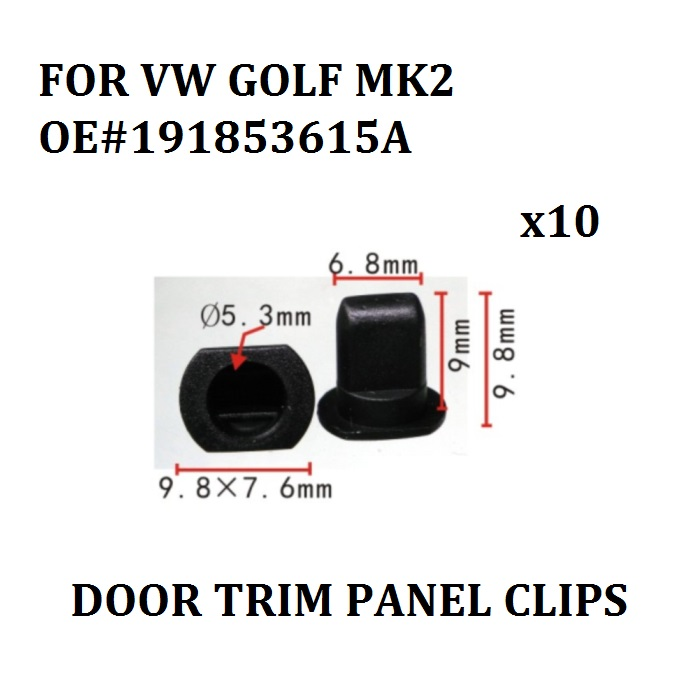 x10 OE#191853615A DOOR TRIM PANEL CLIPS FOR VW GOLF MK2 INTERIOR MIRROR TRIM GROMMETS CLIPS WING MIRROR TRIM TRIANGLE NEW mesh panel striped trim top