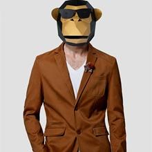 3D Бумажная Маска, модные солнцезащитные очки, костюм гориллы, косплей, сделай сам, бумага, ремесло, Маска модели, Рождество, Хэллоуин, выпускной вечер, вечерние, подарок