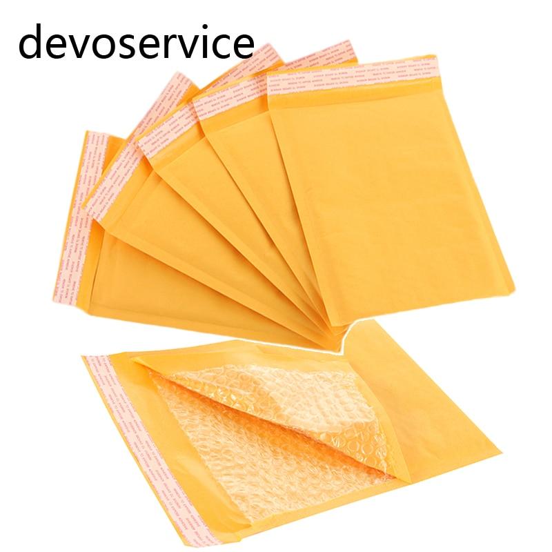 Купить на aliexpress 150*180 мм Kraft бумага Пузырь Конверты Сумки почтовые ящики Мягкий почтовый конверт с пузырьковый почтовый пакет бизнес поставки 5 шт./лот