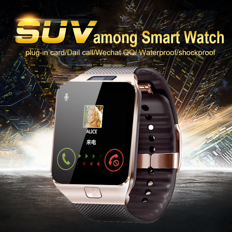 New Bluetooth Smart Watches DZ09 font b Smartwatch b font For Android Apple Phone Clock Support
