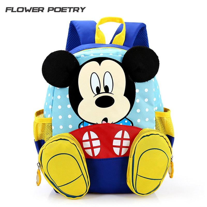 Mochilas De Dibujos Animados De Mickey Para Niñosmochila De Jardín