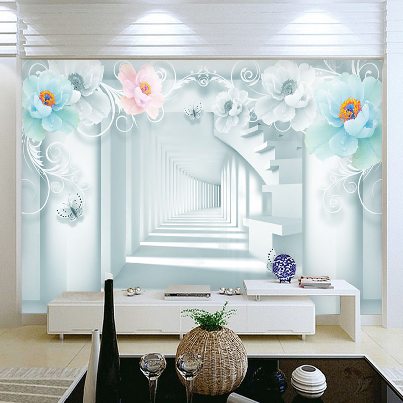 Custom 3D Photo Modern Mural Wallpaper For Bedroom Wallpaper Fashion Stair Tunnel Background Wall Papers Home Decor Living Room custom 3d wall mural wallpaper for bedroom photo background wall papers home decor living room modern painting wall paper rolls