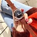 Популярные Брендовые женские карамельные часы водонепроницаемые натуральный мех кожа ремешок часы винтажные римские Наручные часы кварце...