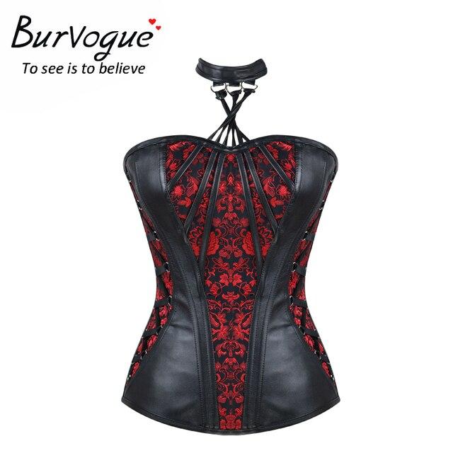 Trainer cintura burvogue 2017 nova slimming corset overbust steampunk corsets trainer corset over-bust em mulheres bustiers & corsets
