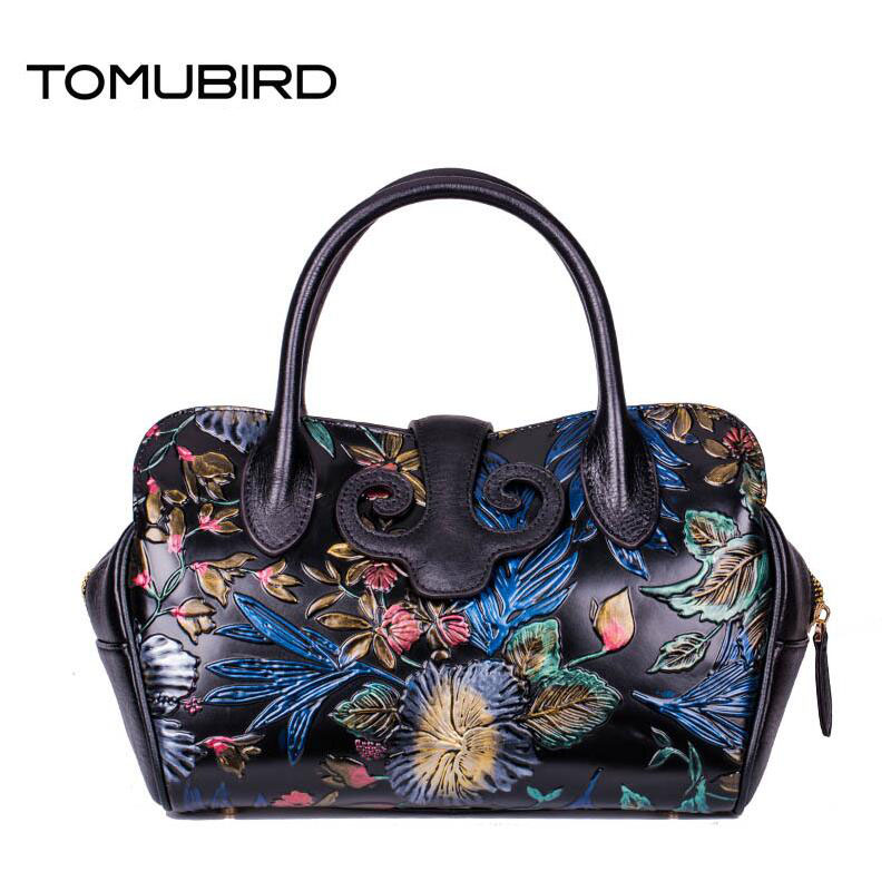 TOMUBIRD 2017 New genuine leather women bag fashion retro hand embossing leather art bag women leather handbags shoulder bag 2016 new women genuine leather bag fashion chinese style top quality cowhide embossing women leather handbags shoulder bag