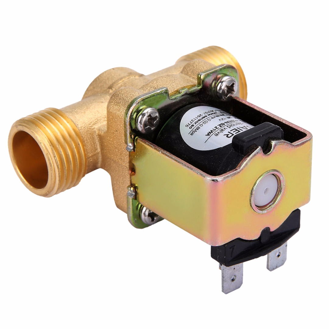 1pc 12V 1/2 2-Way Normally Closed Brass Electric Solenoid Valve Pressure Regulating Valves For Water Oil Steam Machines