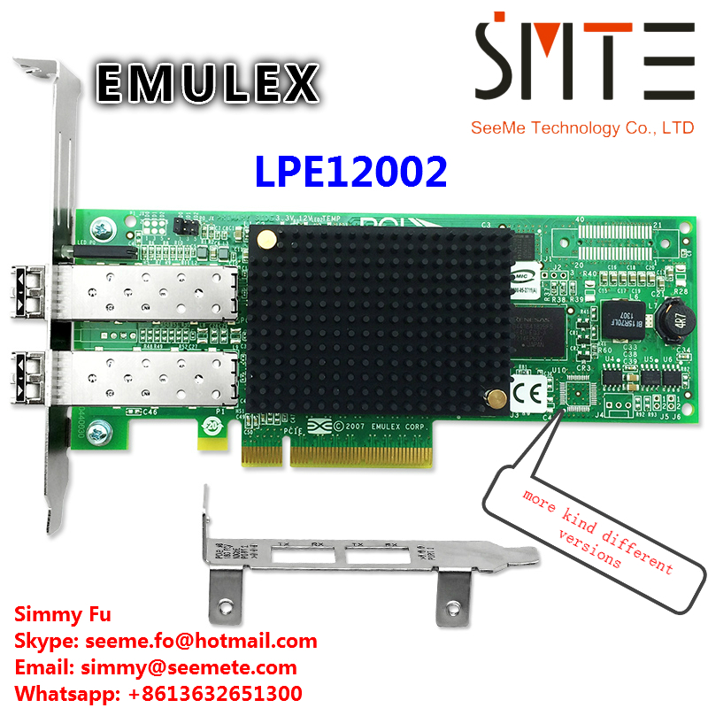 LPE12002 for EMULEX for 8G Dual PCI-E Port HBA Network Adapter card compatible EMULEX