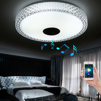 New Design APP Bluetooth Music LED Ceiling Light Smartphone Dimming Discoloration Light Fixture LED Modern Lighting
