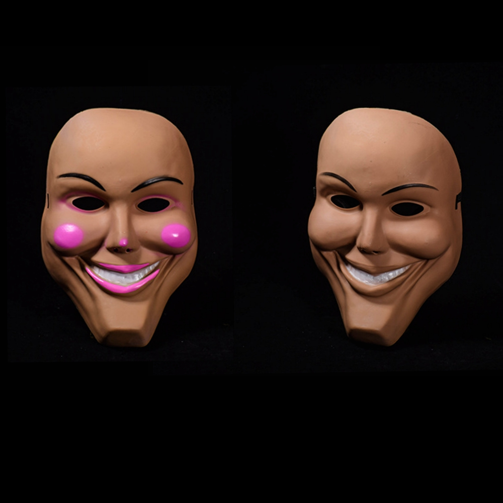 The Purge Grin Mask God Cross Scary Kiss Me Smilling Halloween Masks Cosplay Party Full Face Horror Movie Masque Props