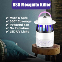 Mosquito Killer Electric Insect USB LED UV Trap Lamp Fly Bug Pest Control pest reject insect killer electronic outlet 19jul2(China)