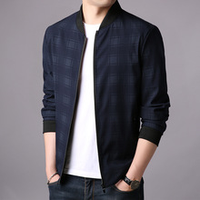 Fashion youth and trendy spring autumn casual mens jacket top handsome light slim ribbed bottom fit