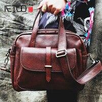 AETOO 2017 New Retro Wind Men S First Layer Of Leather Handbag Vegetable Tanning Hand Rub