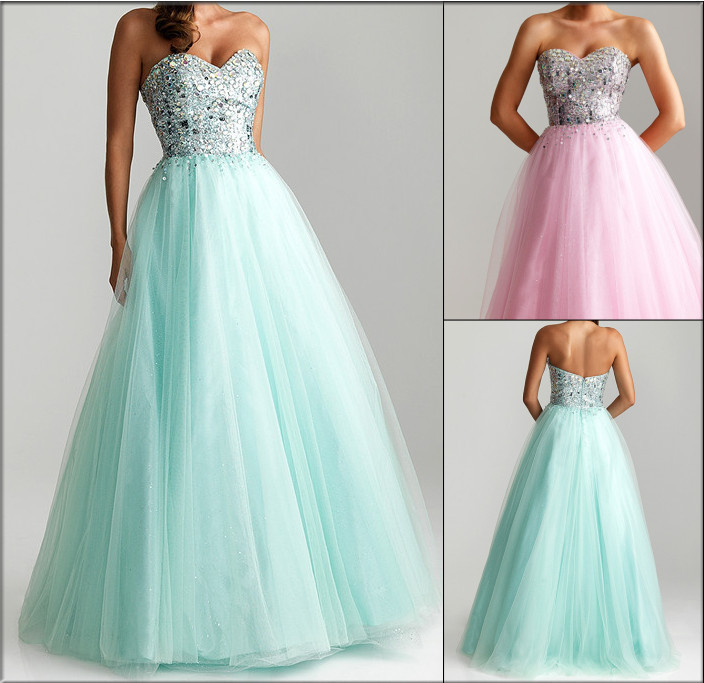 free shipping 2018 Long Sweetheart Tulle A-Line Prom Ball Gowns party Homecoming gown vestido de noiva   bridesmaid     dresses