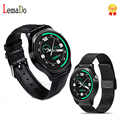 Lemado GW01 Smart Watch MTK2502 Heart Rate Monitor Smartwatch Leather Metal strap For IOS Android Phone