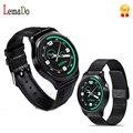 Lemado gw01 smart watch mtk2502 monitor de freqüência cardíaca smartwatch couro bracelete de metal para ios android phone