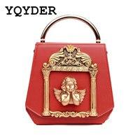 Metal Tote Bags Baroque Angel Women Handbags Luxury Shoulder Bags Ladies 2017 Vintage Styler Chains Messenger