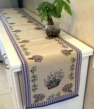 Lilac Lavender Classical Jacquard Table Runner Bar Coffee Store Decor Table Cover Home Party Decorations