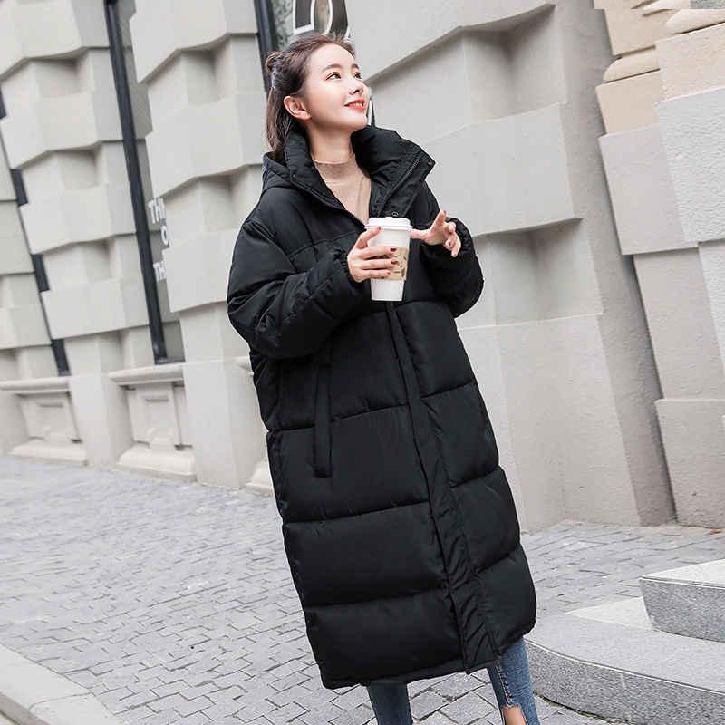f42e51282 Winter Jacket Women Oversized Parka Coat Hooded Long Plus Size Female Warm  2018 Ladies Clothing Outerwear Harajuku Puffer Top 61