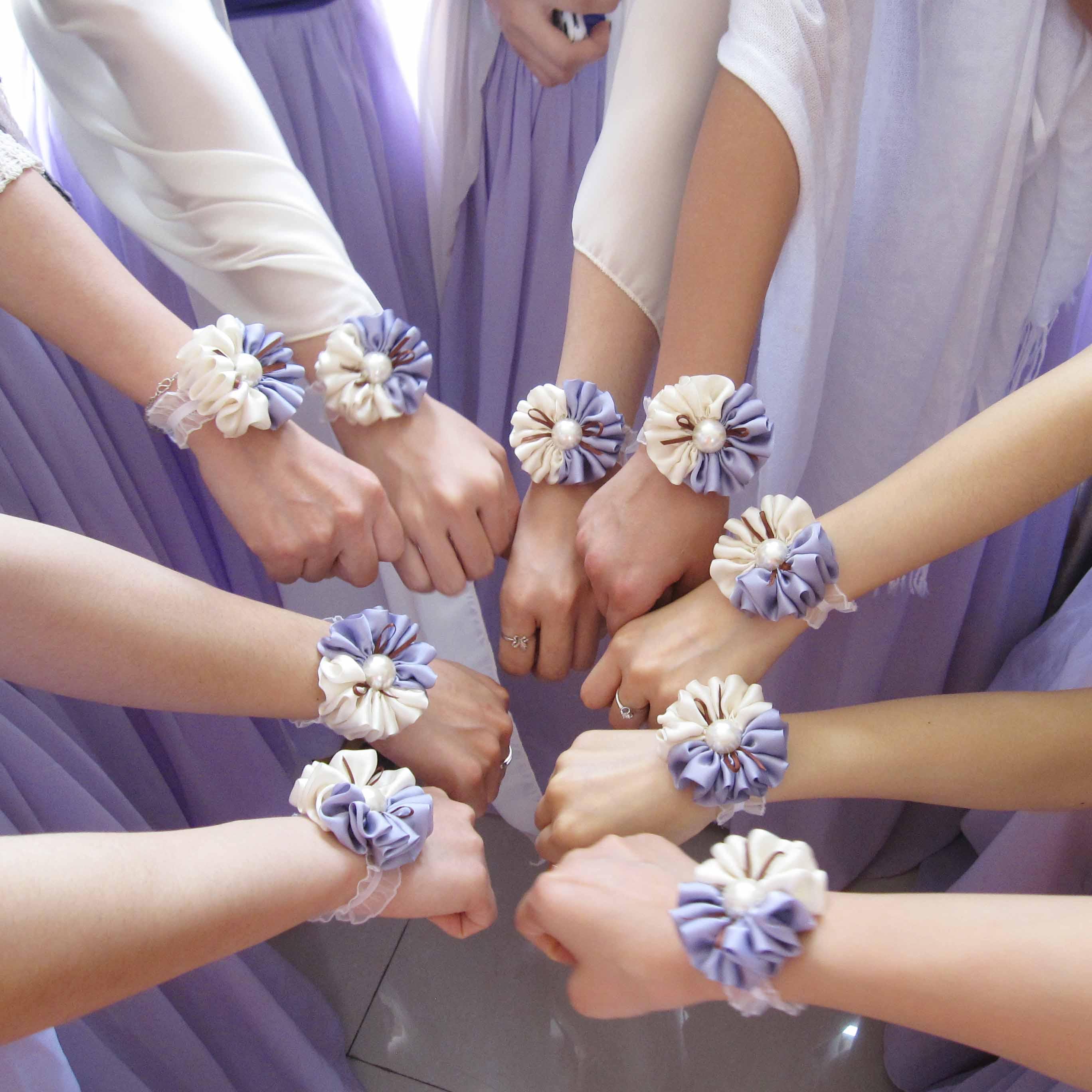 Jorya two color hand purple wrist length corsage flower corsages for jorya two color hand purple wrist length corsage flower corsages for prom in wedding bouquets from weddings events on aliexpress alibaba group izmirmasajfo