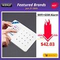 KERUI W18 pantalla TFT de 1,7 pulgadas WIFI GSM hogar sistema de alarma antirrobo Detector de movimiento APP Control Detector de humo de fuego alarma