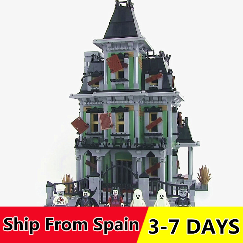 16007 2141PCS Haunted House Building Blocks Movie Series Toys Bricks Compatible with 10228 Christmas gift