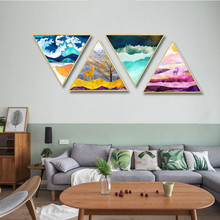 Luxurious golden painted abstract elk ins restaurant decoration mural painting hotel home kitchen Entrance Hanging