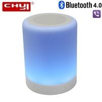 CHYI Tragbare Bluetooth-lautsprecher mit Touch Control LED Bunte Hintergrundbeleuchtung Stereo Outdoor SoundBox BT 4,0 Subwoofer Mit Mic