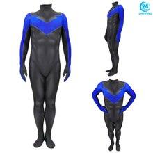 3D הדפסת nightwing קוספליי תלבושות nightwing מערער בגד גוף חליפת סרבלי ליל כל הקדושים תחפושות למבוגרים גברים