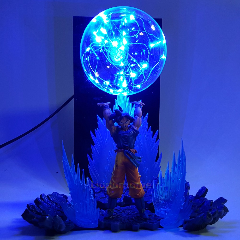 Dragon Ball Z Son Goku Spirit Bomb Led Effect Night Lights Anime DBZ Table Lamp