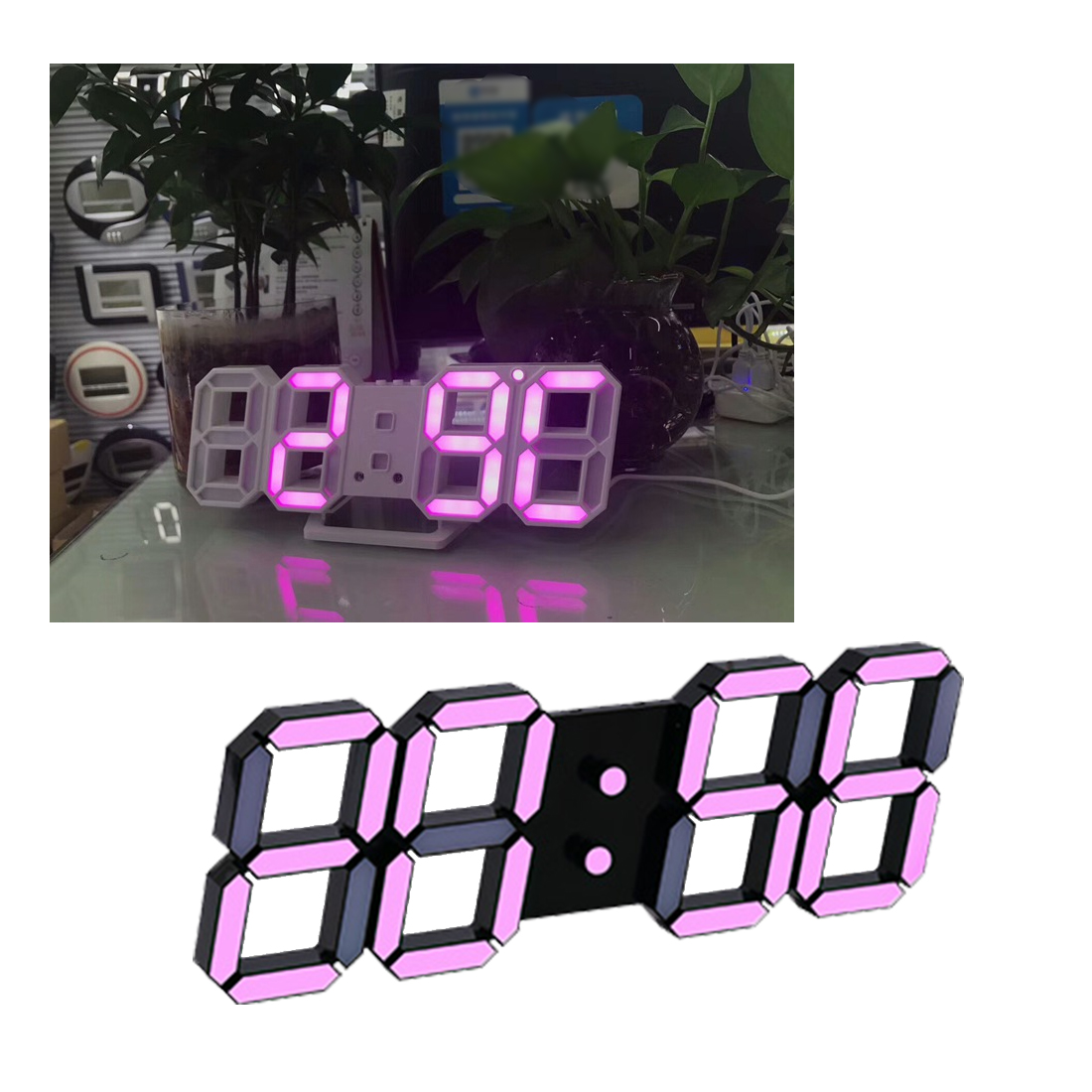 Newest Modern Wall Clock Digital LED Table Clock Watches 24 Or 12-Hour Display Clock Mechanism Alarm Desk Alarm Clock