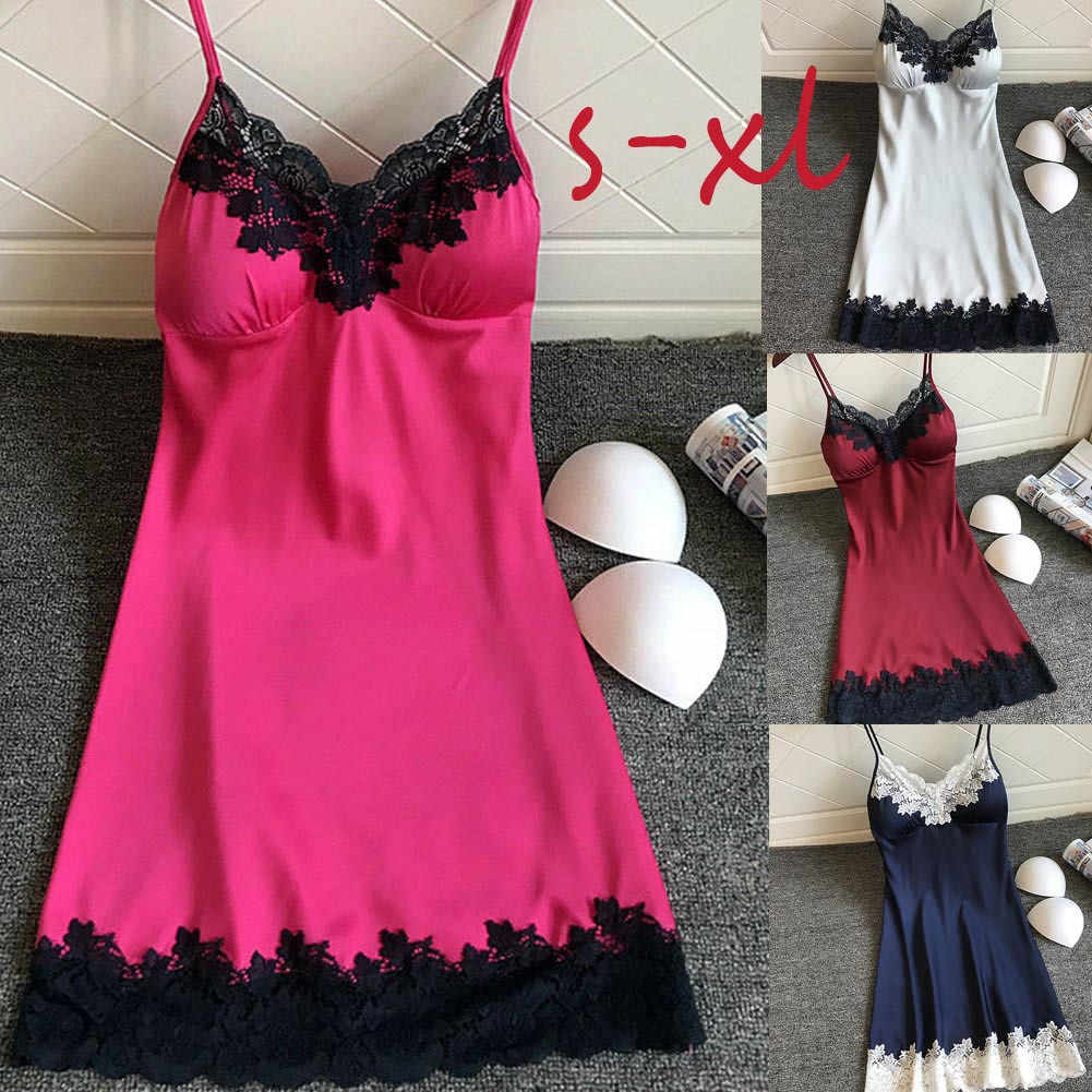 b6050bc9e07 Detail Feedback Questions about Women plus size fun suspender skirt satin  lace stitching nightdress Sexy Temptation Sling Halter Lace Lingerie  Exposed high ...
