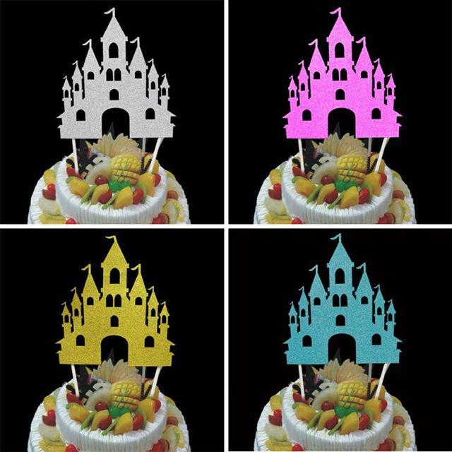1 Pc Burg Cupcake Kuchen Topper Kreative Kuchen Fahnen Glucklich